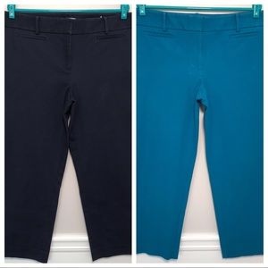 LOFT Set Of Two Marisa Riviera Pants Blue Size 14
